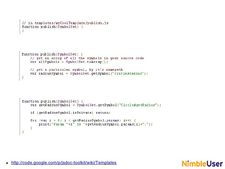 jsdoc templates - api doc smackdown