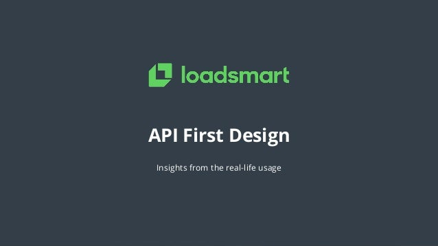 API First Design Insights from the real-life usage