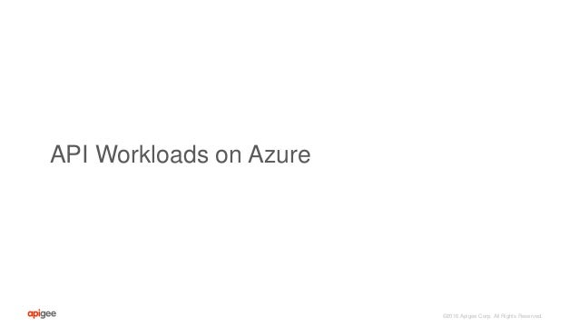©2016 Apigee Corp. All Rights Reserved. API Workloads on Azure