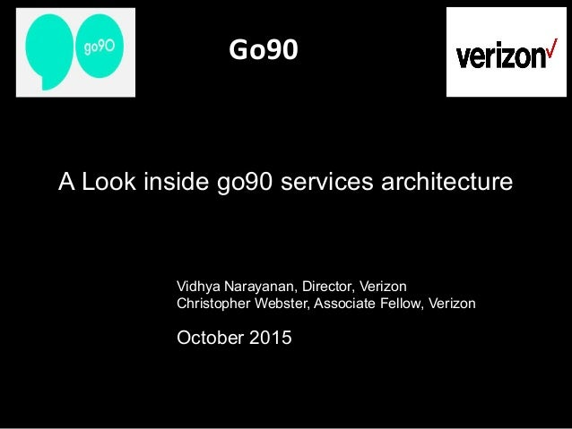 Go90                           Vidhya Narayanan, Director, Verizon Christopher Webster, Associat...