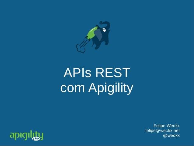 APIs REST com Apigility Felipe Weckx felipe@weckx.net @weckx
