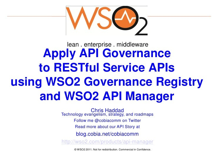Apply api governance to restful service apis using wso2 for Service registry