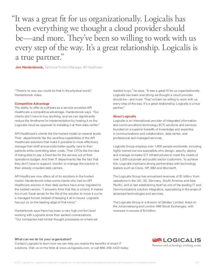 Logicalis Case Study - API Healthcare   Slide 2