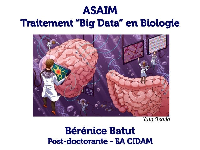 "ASAIM Traitement ""Big Data"" en Biologie Bérénice Batut Post-doctorante - EA CIDAM Yuta Onada"