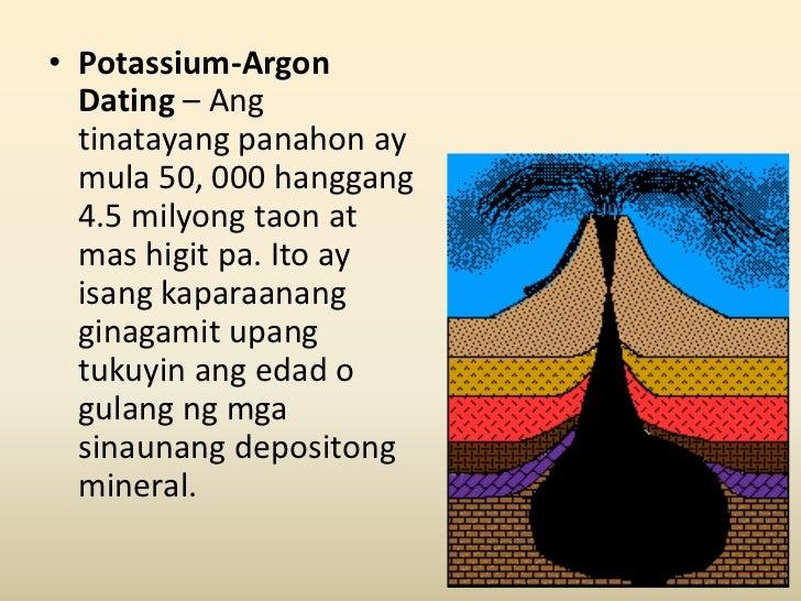ano ang radiocarbon dating at potassium-argon dating