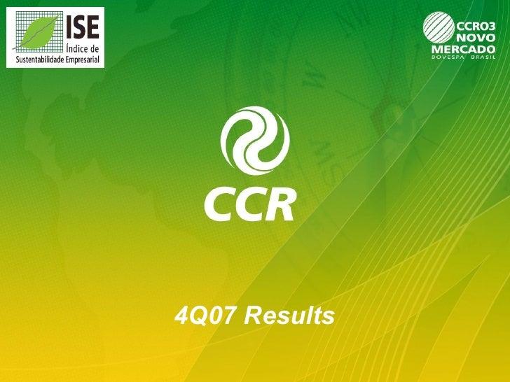 4Q07 Results