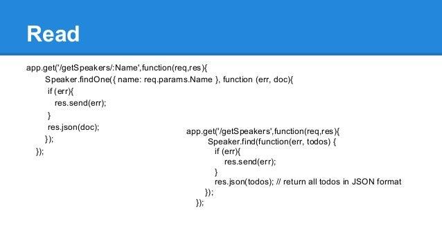 API Driven Application - AngulatJS, NodeJS and MongoDB