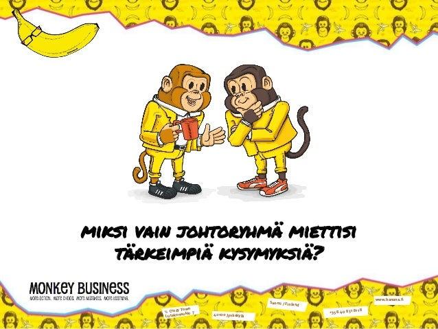 ℅ Crazy Town Lutakonaukio 7 40100 Jyväskylä Suomi / Finland +358 40 831 8118 www.banana.fi miksi vain johtoryhmä miettisi ...