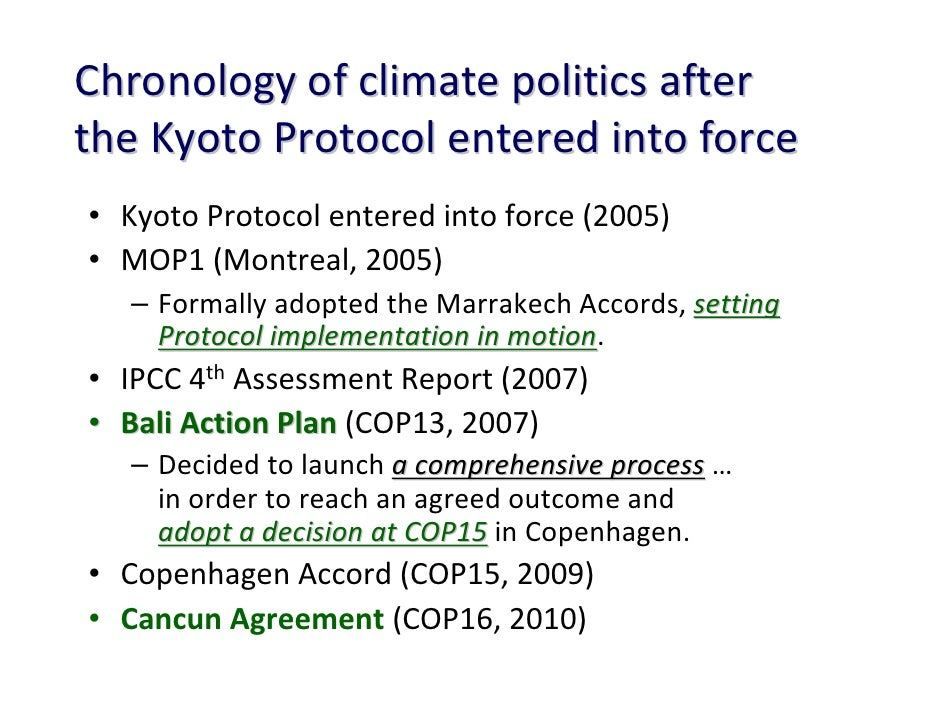 climate change and the kyoto protocol politics essay The copenhagen climate conference was a meeting of ministers and officials to develop a sequel to the kyoto protocol the conference lasted for two weeks in december 2009 in the title city the point is to devise an international strategy to combat climate change.
