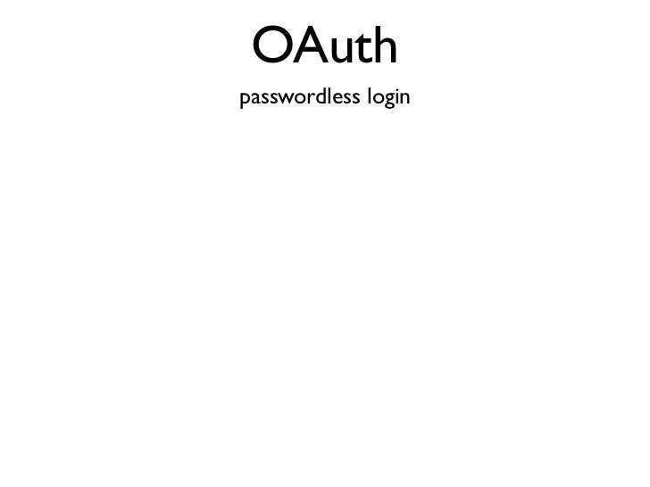 First API?