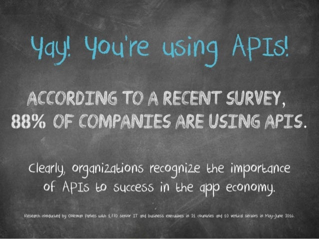 Yay! You're using APIs! According to a recent survey, 88% of companies are using APIs. Clearly, organizations recognize th...