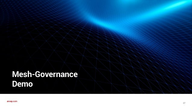 axway.comaxway.com Mesh Governance - Demo 28 Control plane Policy-Library • Unified Catalog • Observer Node-AppGitHubDocke...