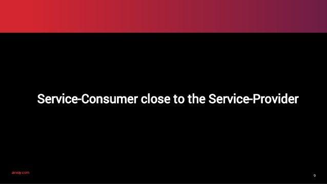 axway.comaxway.com 9 Service-Consumer close to the Service-Provider