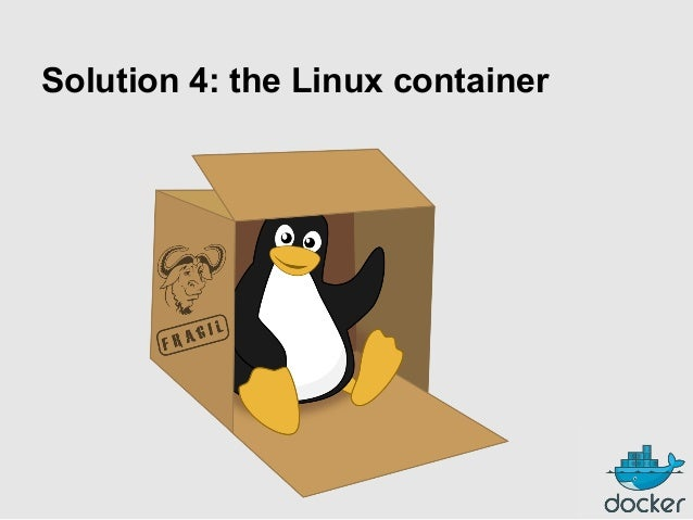 Solution 4: the Linux container