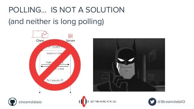 IS NOT A SOLUTIONPOLLING... @StreamdataIOstreamdataio (and neither is long polling)