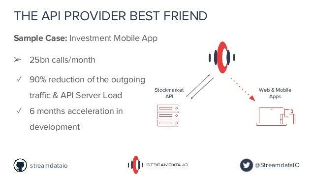 THE API PROVIDER BEST FRIEND Sample Case: Investment Mobile App @StreamdataIOstreamdataio Stockmarket API Web & Mobile App...