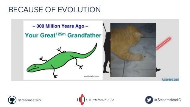BECAUSE OF EVOLUTION @StreamdataIOstreamdataio