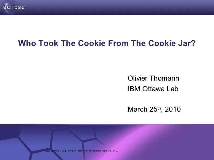 Who Took The Cookie From The Cookie Jar?                                                                                  ...