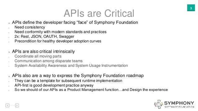 Symphony Software Foundation Api Working Group Proposal
