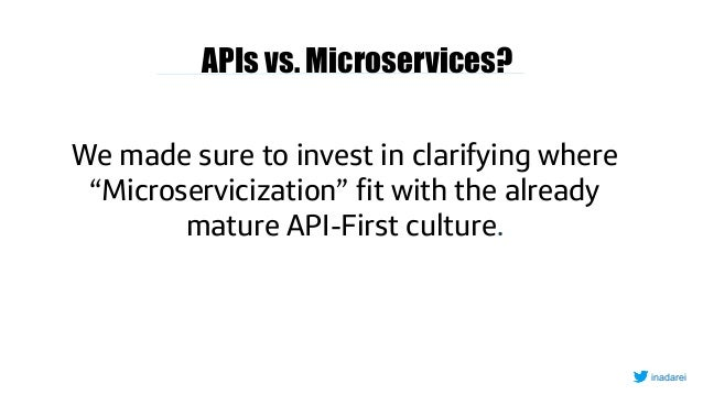"""APIs vs. Microservices? We made sure to invest in clarifying where """"Microservicization"""" fit with the already mature API-Fi..."""