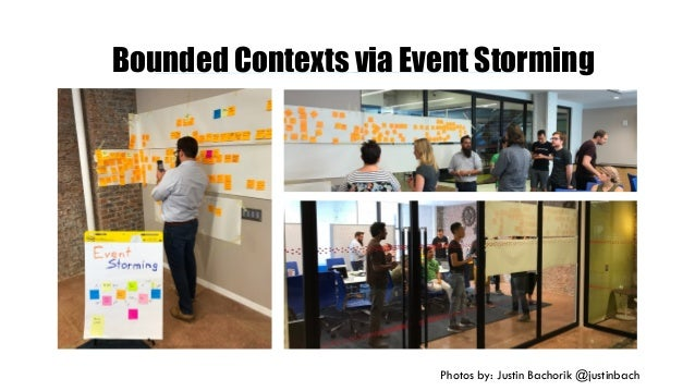 Bounded Contexts via Event Storming Photos by: Justin Bachorik @justinbach