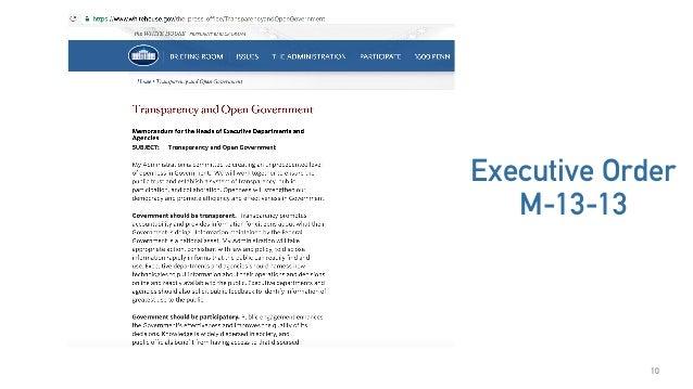10 Executive Order M-13-13
