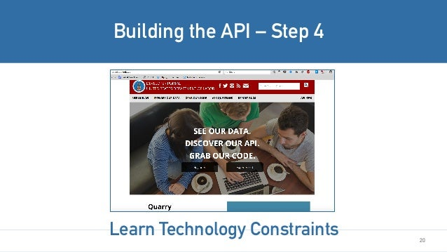 20 Building the API – Step 4 Learn Technology Constraints