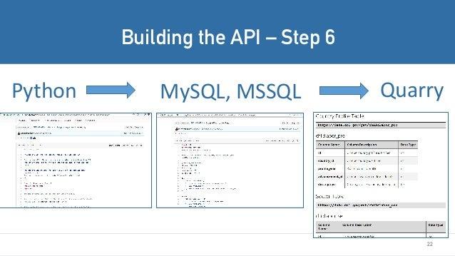 22 Python QuarryMySQL,MSSQL Building the API – Step 6