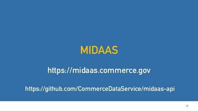 29 MIDAAS https://midaas.commerce.gov https://github.com/CommerceDataService/midaas-api