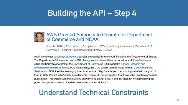 34 Building the API – Step 4 Understand Technical Constraints