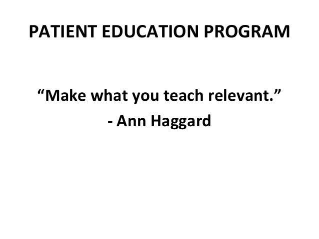 Patient Education Program