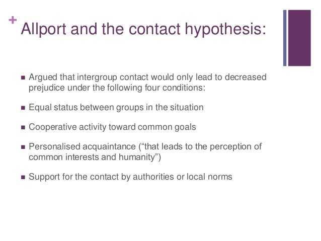 intergroup contact example