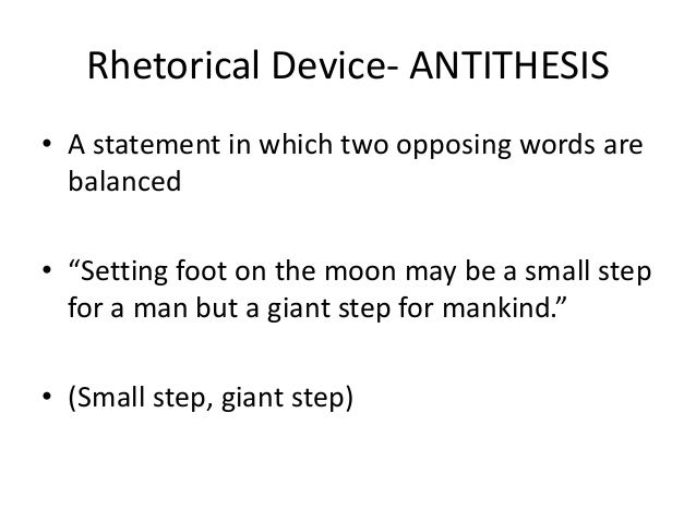 antithesis rhetorical terms The forest of rhetoric if you'd like to look up specific terms of rhetoric, either scroll through the list of figures of speech.