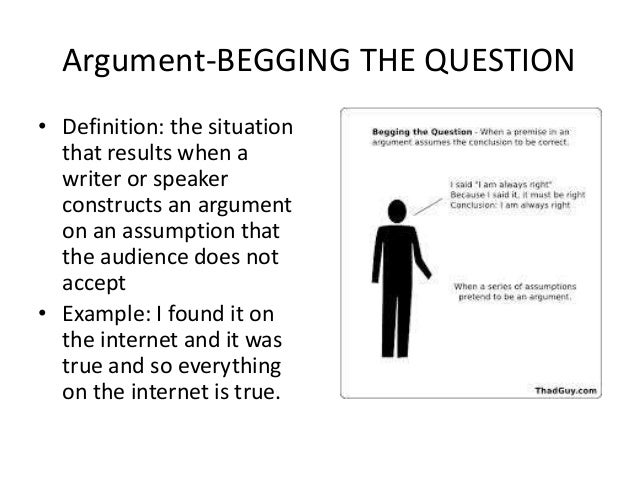 Examples Of Begging The Question Images Example Cover Letter For