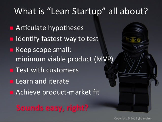 A Playbook for Achieving Product-Market Fit by Dan Olsen at Lean Startup Conference Slide 3