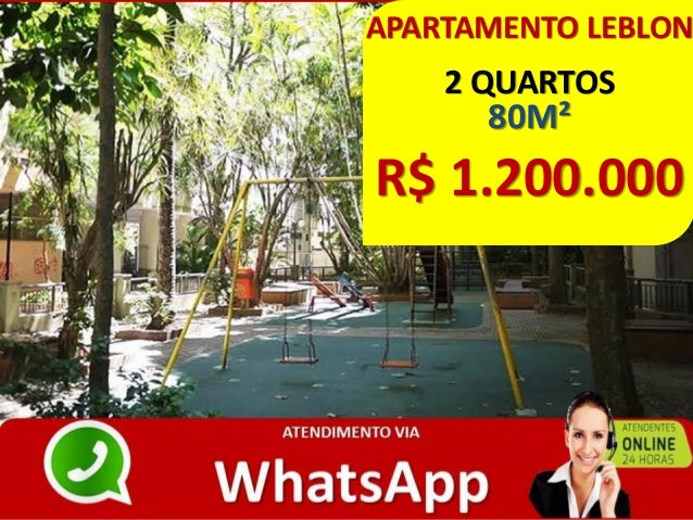 APARTAMENTO LEBLON 2 QUARTOS 80M² R$ 1.200.000