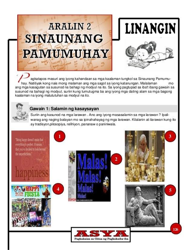 Pamprosesong Tanong: Mga naging batayan ko sa ipinahahayag ng mga larawan ay ang sumusunod : Ang unang larawan ay _____...