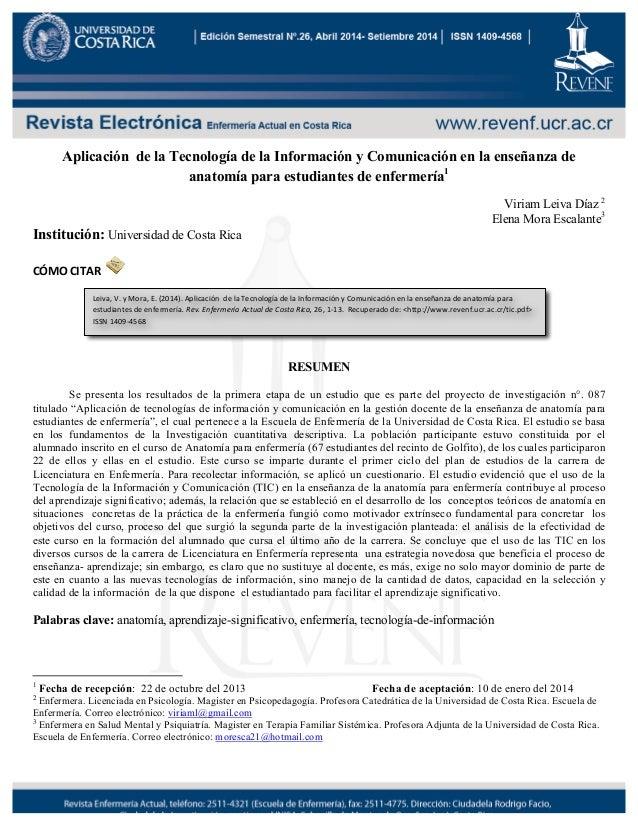 Aplicación de la tecnología de la información y comunicación en la en…