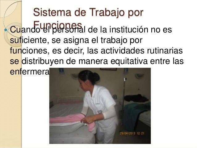Sistemas de trabajo en enfermeria