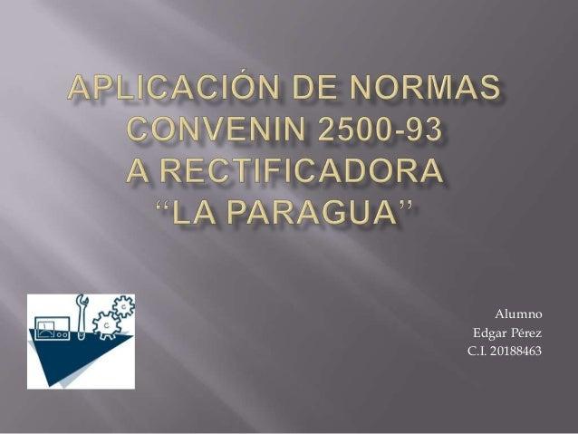 Alumno Edgar Pérez C.I. 20188463