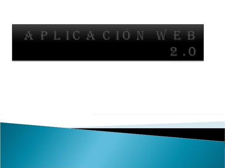 Aplicación web 2