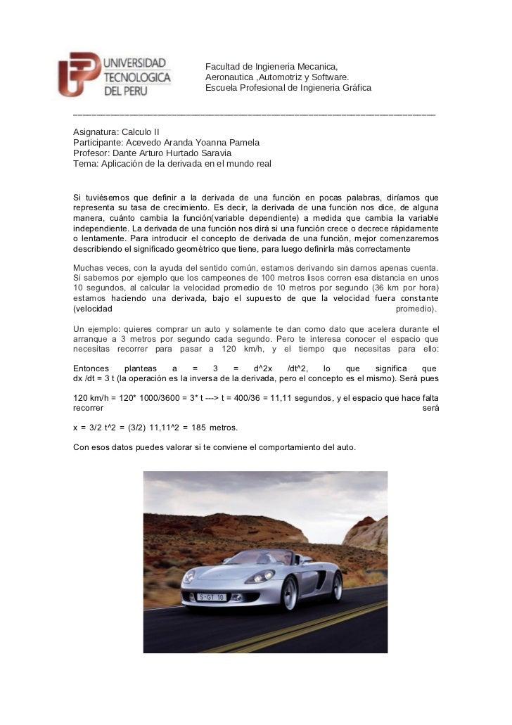 Facultad de Ingieneria Mecanica,                                   Aeronautica ,Automotriz y Software.                    ...