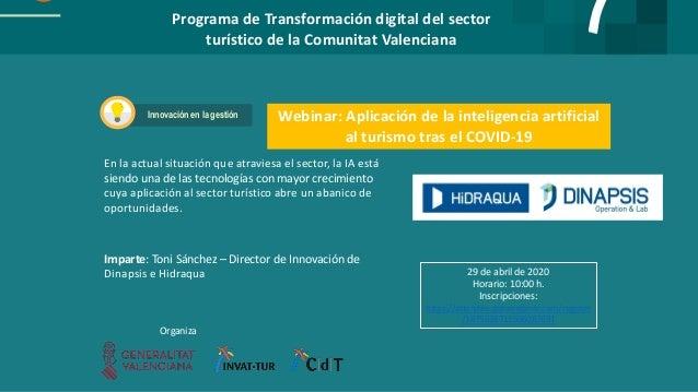 Programa de Transformación digital del sector turístico de la Comunitat Valenciana Webinar: Aplicación de la inteligencia ...