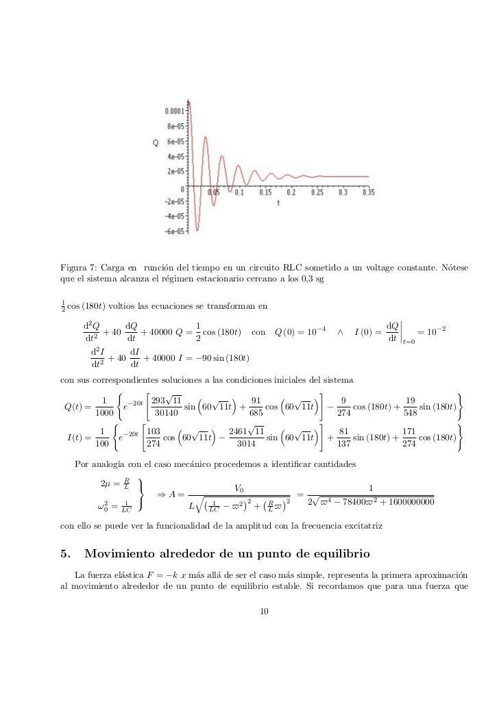 Circuito Rlc Ecuaciones Diferenciales : Aplicacion de las ecuaciones diferenciales orden superior