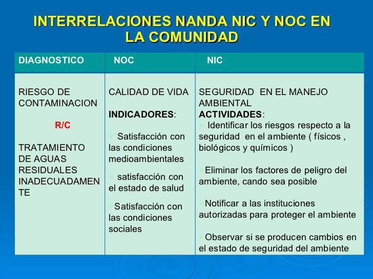 Aplicacion De Nanda Nic Y Noc En La Comunidad