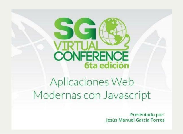 Aplicaciones Web Modernas Con Javascript