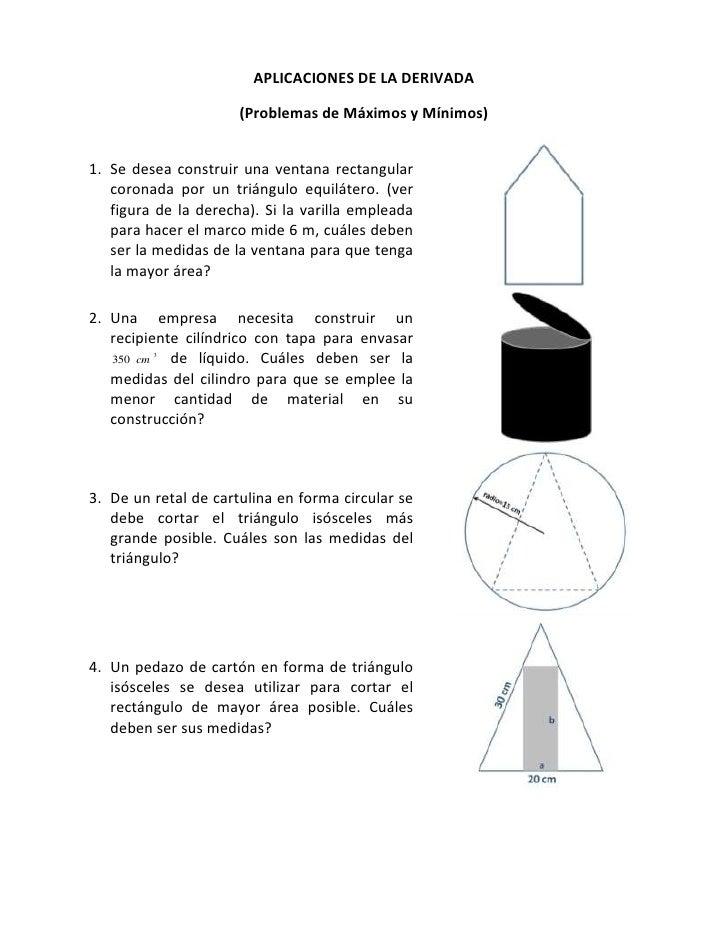 APLICACIONES DE LA DERIVADA<br />(Problemas de Máximos y Mínimos)<br />Se desea construir una ventana rectangular coronada...