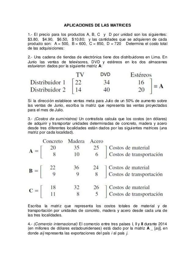 Aplicaciones de las matrices - Que es un contratista ...