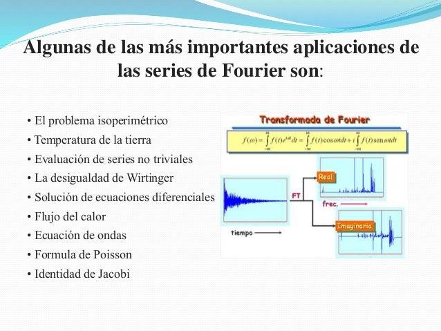 • El problema isoperimétrico • Temperatura de la tierra • Evaluación de series no triviales • La desigualdad de Wirtinger ...