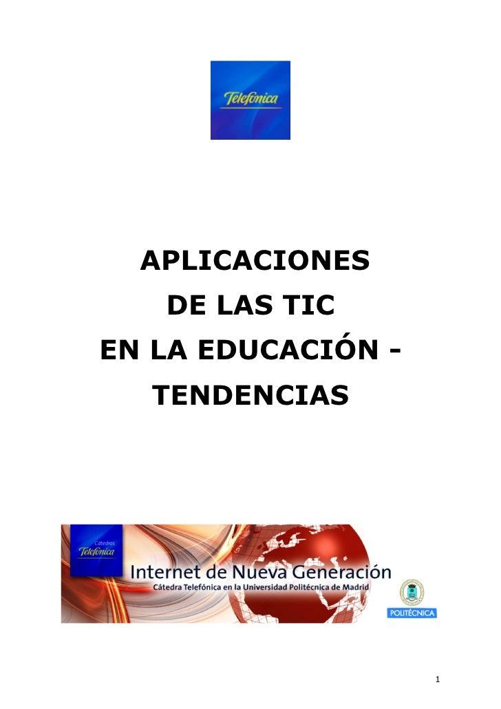 Aplicaciones de las TIC en la educacion - Tendencias